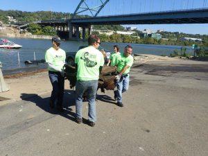 Debris, Volunteers, Monongahela River
